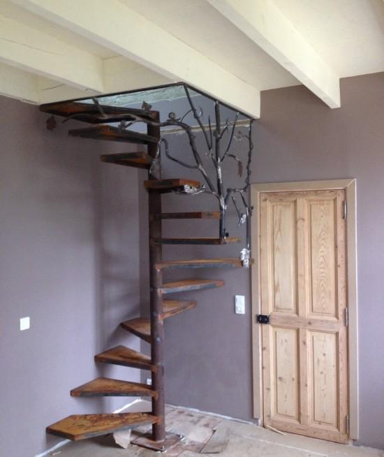 escalier passion acier design
